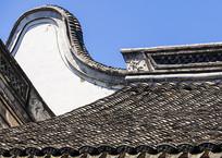 慈城火神庙硬山顶正脊山墙特写