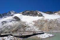 达古川雪湖边观景平台和栈道