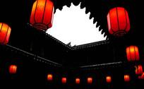 古楼天井和红灯笼