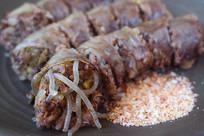 韩国传统美食香肠