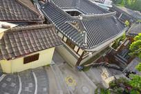 韩国首尔北村韩屋村民房俯拍