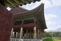 韩国首尔景福宫的庆会楼小景