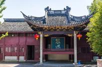 宁波慈城城隍庙戏台建筑