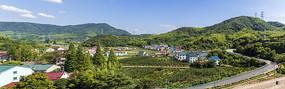 中国浙江宁波慈城毛力村全景