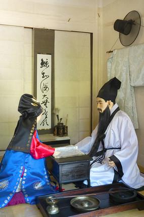 韩国民俗雕塑-古代儿童教育场景