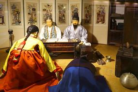 韩国民俗雕塑-正月初一拜年