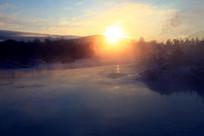 冰河日出风光