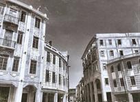 黑白民国建筑