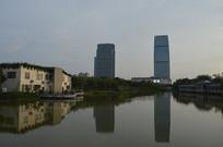 人工湖景观