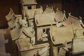 陶制老式四合院模型
