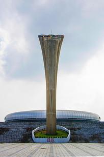 鞍山奥体中心五环标志建筑