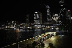 海港码头夜景