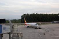 济南国际机场待飞的飞机