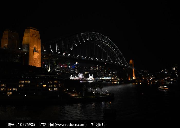 悉尼大桥夜景图片
