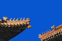 北京故宫博物院脊兽及仙人骑鸡