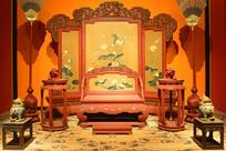 北京故宫皇帝宝座间