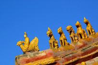 北京故宫脊兽及仙人骑鸡
