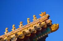 北京故宫五脊六兽及仙人骑鸡