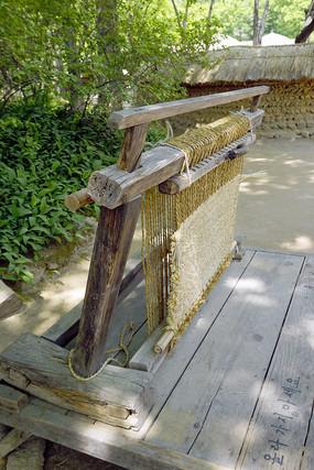 韩国民间草垫编织及工具