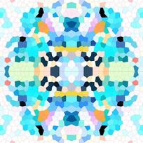 色块抽象印花花型