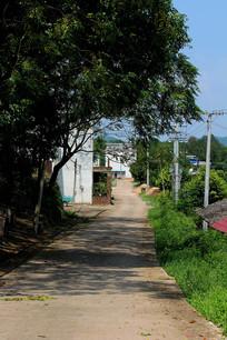 乡村单行道马路