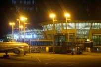 韩国仁川机场航站楼夜景