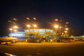 仁川国际机场航站楼夜景