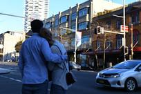 悉尼街头的恋人