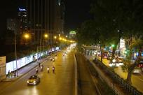 越南河内市城市马路风光