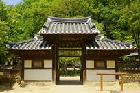 韩国民俗村传统庭院门楼