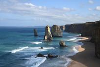 澳洲大洋路十二门徒景观