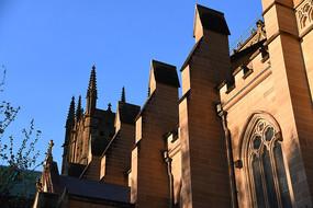 澳洲悉尼圣玛丽大教堂侧面墙