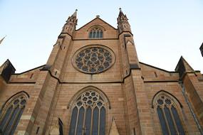 澳洲悉尼圣玛丽大教堂正面墙
