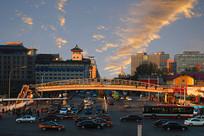 北京东单银街傍晚风光