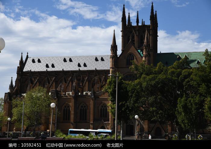 圣玛丽大教堂正面图片
