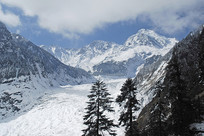 甘孜海螺沟冰川粒雪盆冰瀑景观