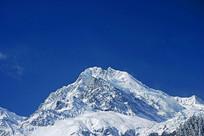 甘孜州海螺沟冰川贡嘎山雪峰