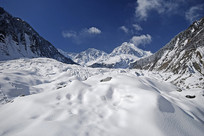 海螺沟冰川 粒雪盆的冰瀑