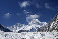 四川海螺沟冰川粒雪盆冰瀑景观
