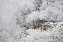 四川海螺沟冰川温泉雪景