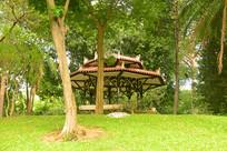 越南胡志明市统一宫园林及凉亭