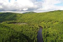 穿越绿色林海的河流-阿巴河