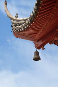 江苏南京市夫子庙飞檐上的风铃