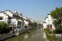 南京秦淮河的徽式民居建筑外景