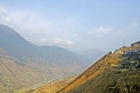四川甘孜州泸定县大渡河俯拍