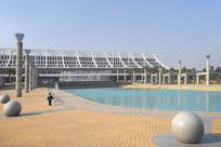 厦门高崎国际机场航站楼池塘