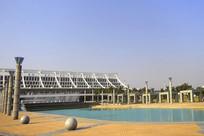 厦门高崎机场航站楼及池塘