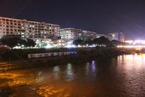 信丰老桥房子夜景