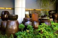 韩国风情的酱缸园林装饰