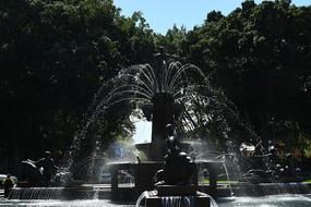 悉尼海德公园喷泉景观